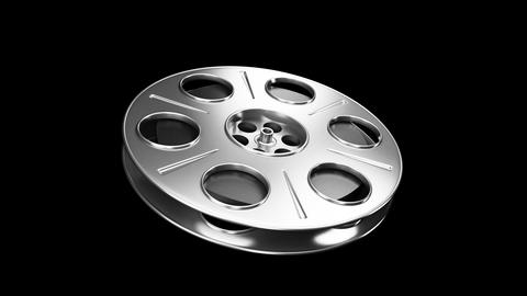 Spining Film Reel Silver Stock Video Footage