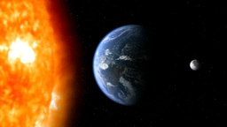 earth moon sun 02 Stock Video Footage