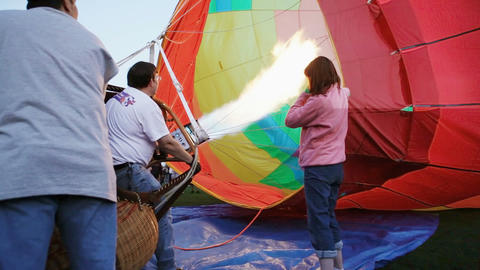 Setting up a hot air balloon Stock Video Footage