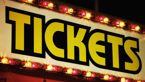 Carnival Ticket Booth At Night Stock Video Footage