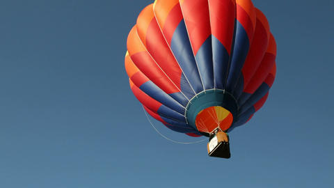 Hot Air Ballon Flies Skyward Stock Video Footage