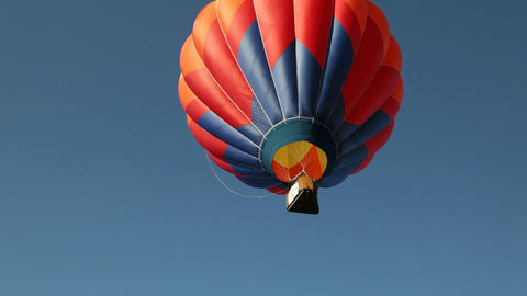 Hot Air Ballon Flies Skyward Footage