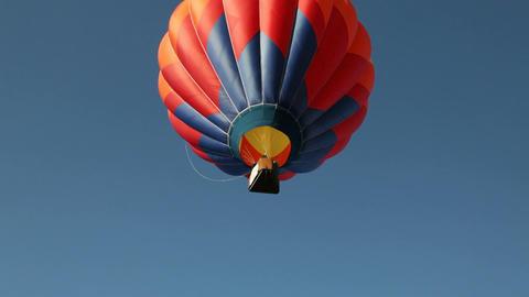 Hot Air Ballon Flies Skyward Stock Video Footage