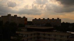 Getting Dark Industrial City Stock Video Footage