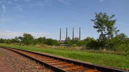 Industrial View 03 railway Stock Video Footage