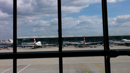 London Heathrow Airport Terminal 01 Stock Video Footage