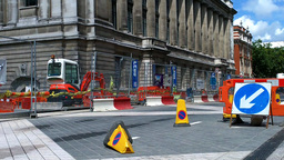 London Street Under Construction 01 Stock Video Footage