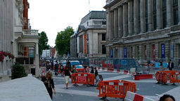 London Street Under Construction 03 Footage