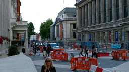 London Street Under Construction 03 Stock Video Footage