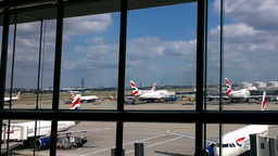 London Heathrow Airport Terminal 03 Footage
