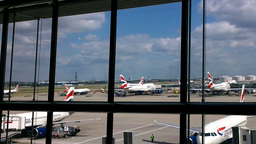 London Heathrow Airport Terminal 03 Stock Video Footage