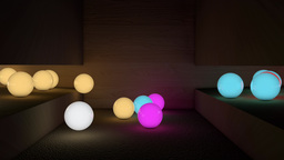 Glow Balls VBHD0061 stock footage