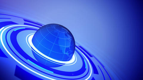 Globe with space for your text Animation