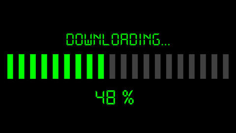 downloading progress bar - digital green Animation