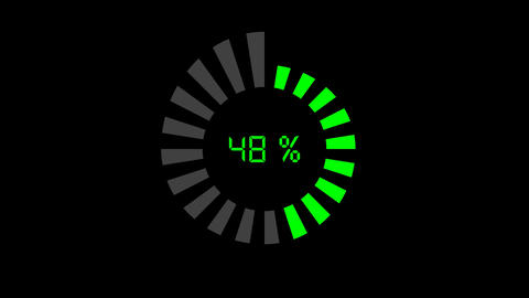 progress bar - digital style, radial design Animation