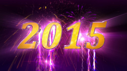 New Year 2015 Fireworks Animation