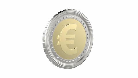Euro Coin stock footage