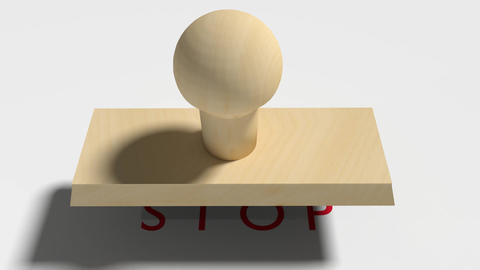 """Wooden Stamp Prints """"Stop"""" Animation"""