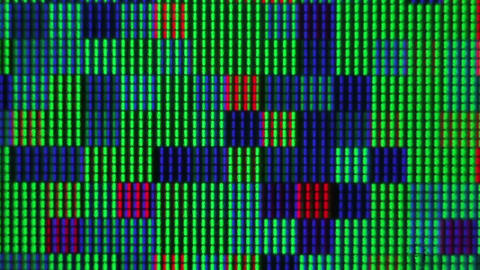Busy Closeup Of Bright Colors On Computer Monitor stock footage