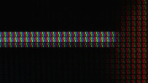 Macro shot of pixels on an LCD display Footage
