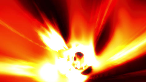 Fire orange tunnel wormhole loop 2 Animation