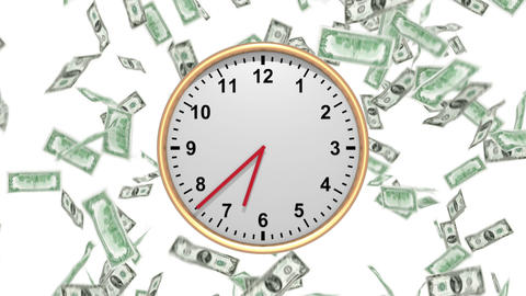 Time Is Money - 100 USD - HD LOOP Animation