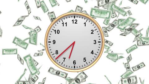 Time Is Money - 100 USD - HD LOOP stock footage