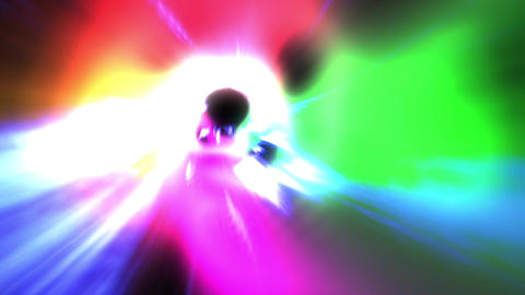 Colorful tunnel wormhole loop 1 Animation