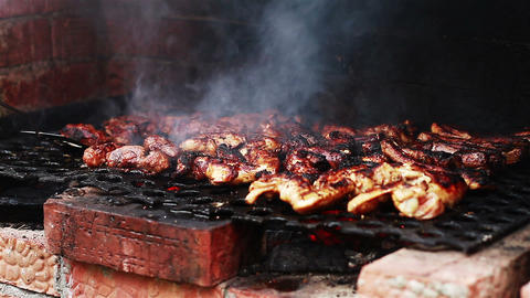 Barbeque Close Up 1 stock footage