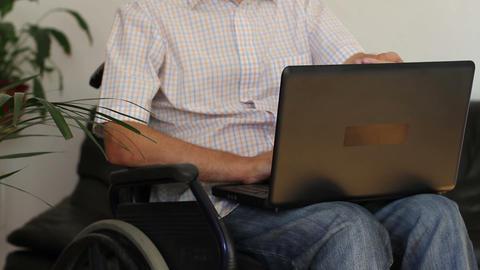 Businessman In Wheelchair stock footage