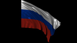Russian Federation Looping Flag stock footage