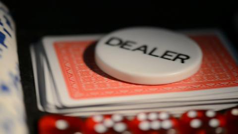 Poker Chip Set stock footage
