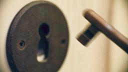 Key Into Lock Macro 2 Sound stock footage