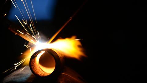 Sparkling iron Footage