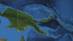 PAPUA NEW GUINEA. Zoom in on PAPUA NEW GUINEA Animation