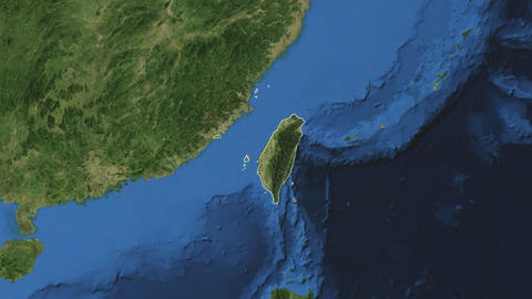 TAIWAN. Zoom in on TAIWAN Animation
