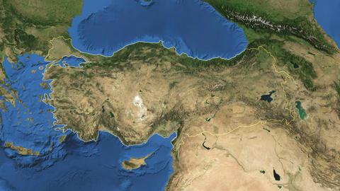 TURKEY. Zoom in on TURKEY Animation