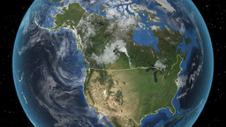 UNITED STATES (with Alaska). zoom in on USA Animation