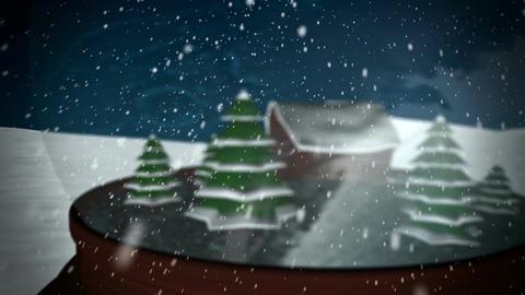 Christmas Snow globe Animation