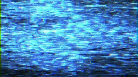 Distorted Bad tv signal malfunction Animation