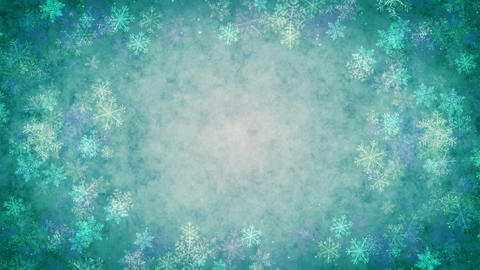 Snow Crystal (cold) stock footage