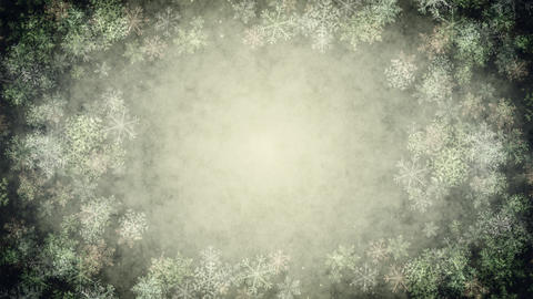 Snow Crystal (Christmas) stock footage