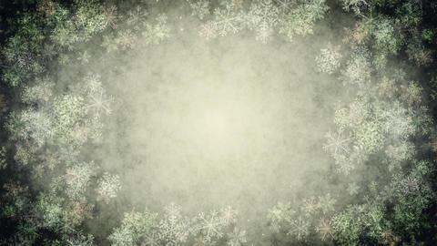 Snow Crystal (Christmas) CG動画素材
