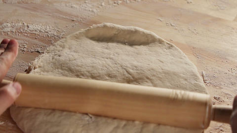 Kneading the dough 2 Footage