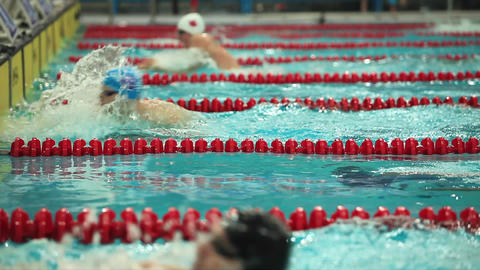Butterfly Stroke stock footage