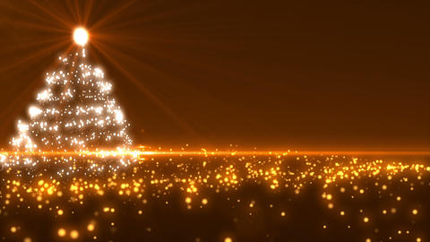 Gold Christmas Tree Animation