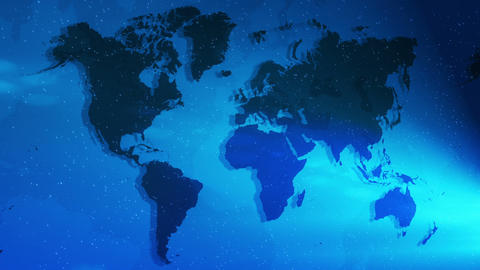 Night Global Map Scroll Loop stock footage