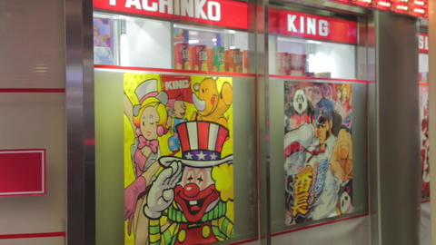 pachinko hall in Kyoto Footage