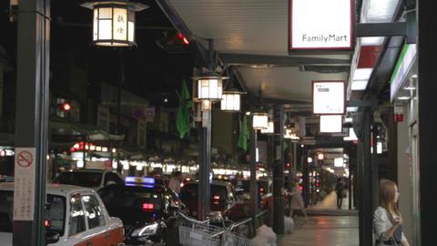 Shijo Dori Evening - At Gion stock footage