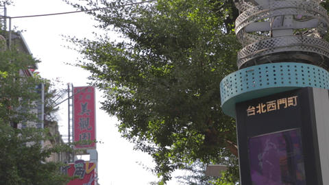Ximen - main street on a sunny day - close day Stock Video Footage